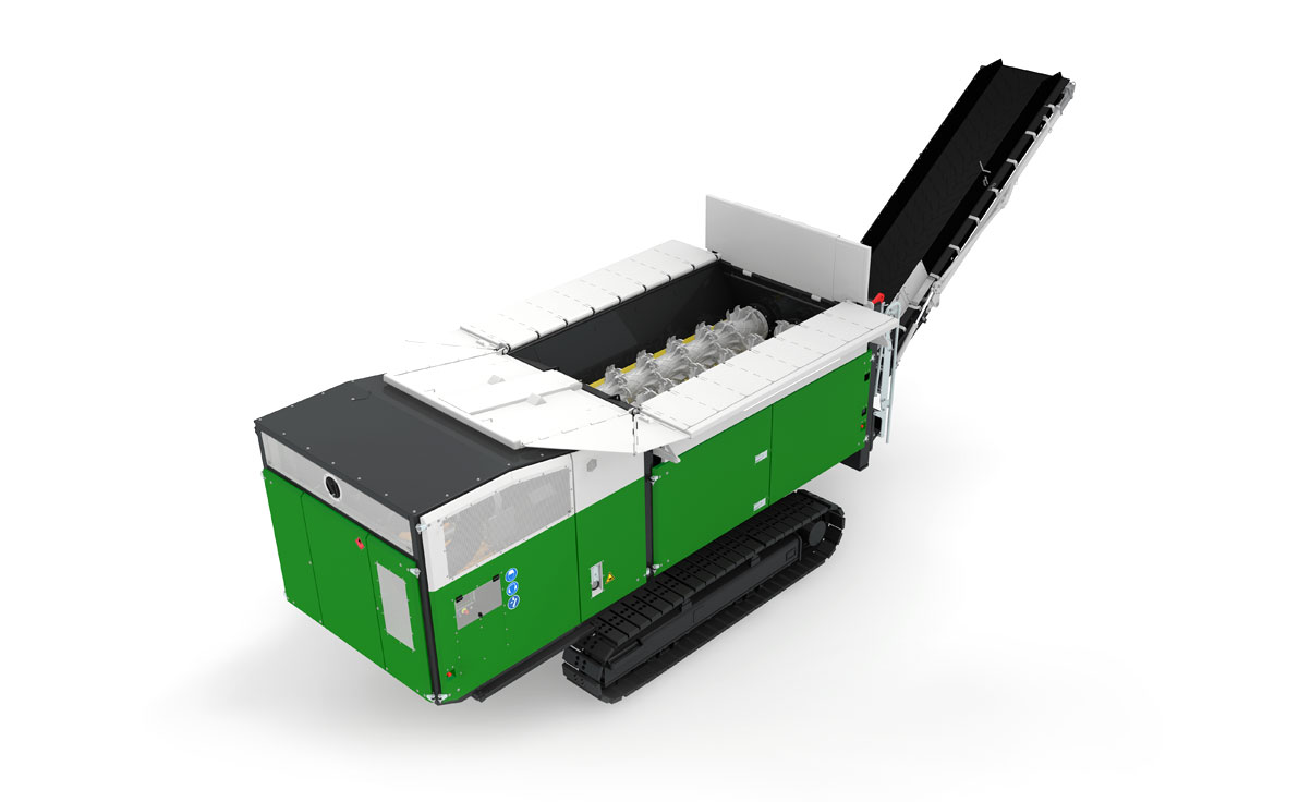 Crambo - low-speed, high-torque, dual-shaft waste shredder