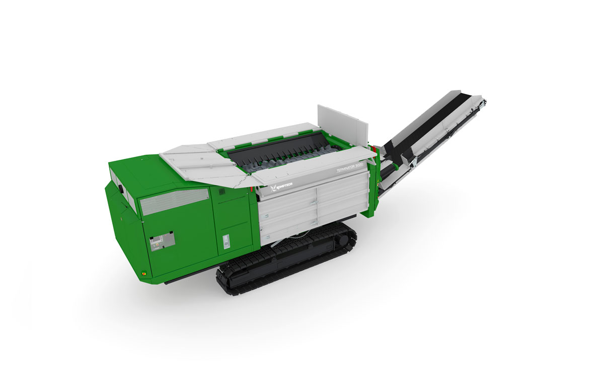 Terminator Single-Shaft Industrial Waste Shredders