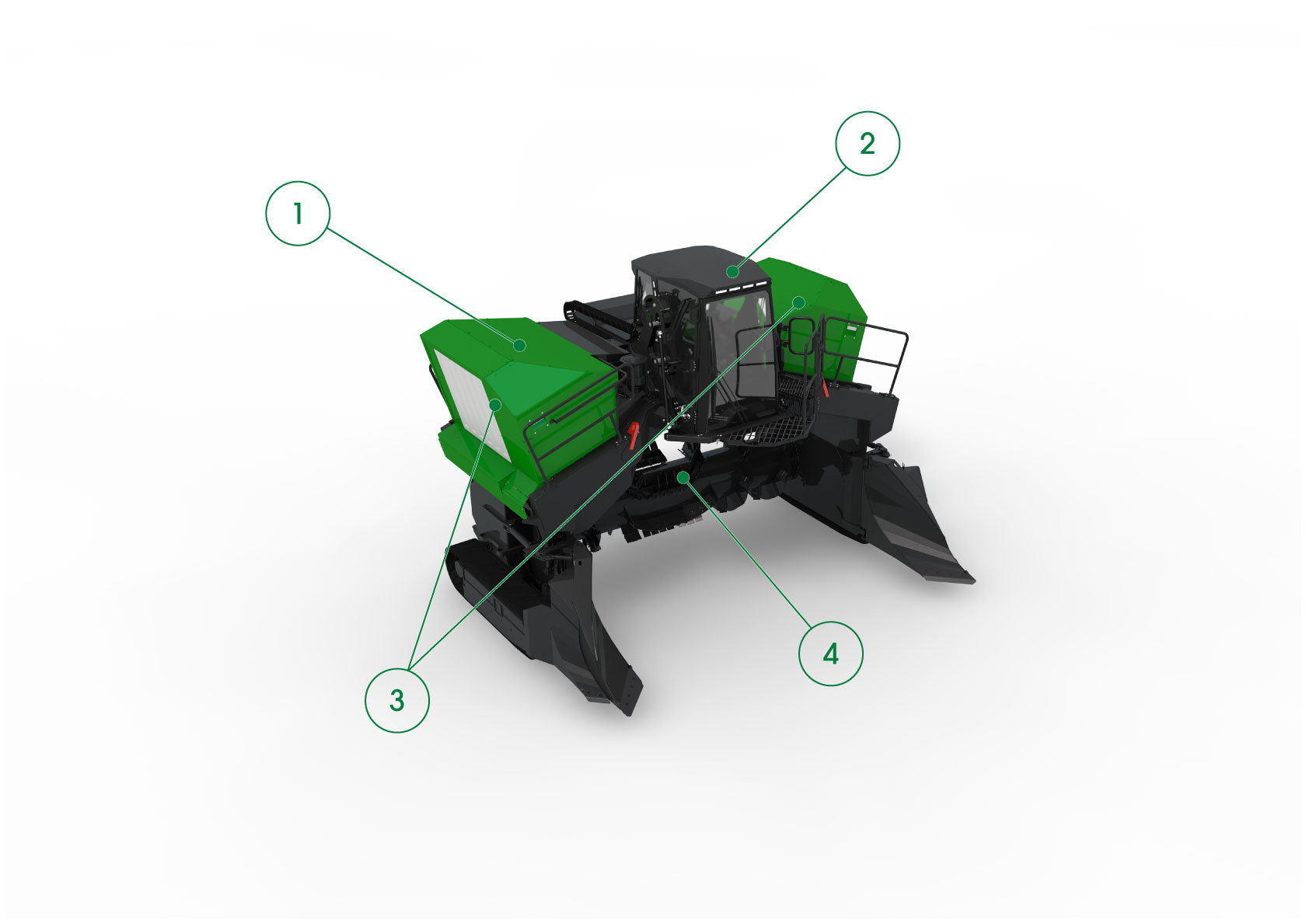 Core Features of the Topturn X5000 Compost Windrow Turner