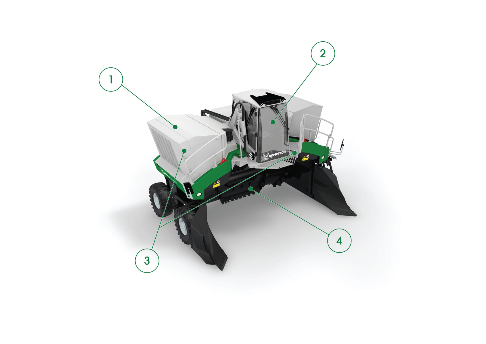 Core Features of the Topturn X63 Compost Windrow Turner