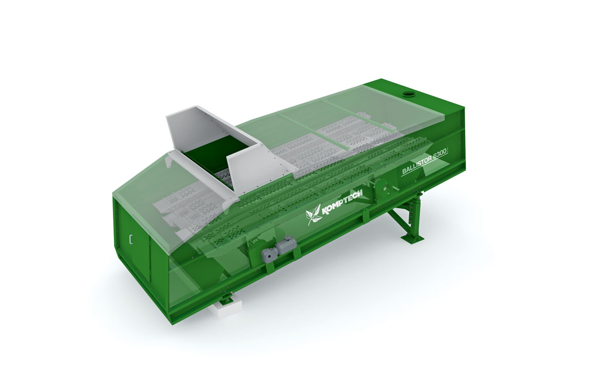 Overview of Komptech Ballistor ballistic waste separator