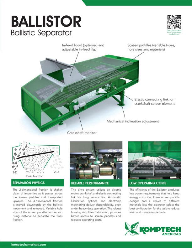 Kopmtech Ballistor ballistic separator