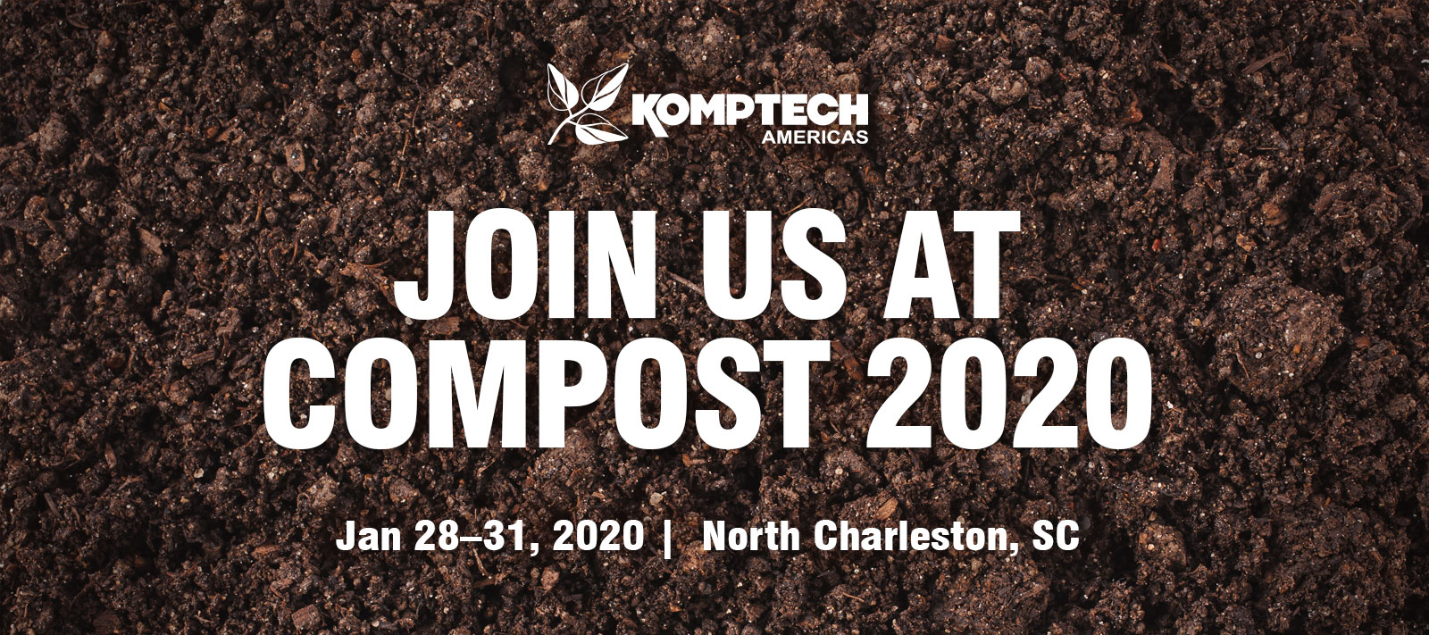 Join us at COMPOST 2020 - Jan 28–31, 2020 | North Charleston, SC