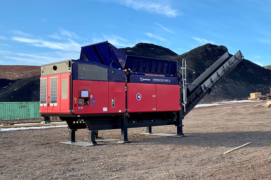 Komptech Terminator single-shaft waste shredder