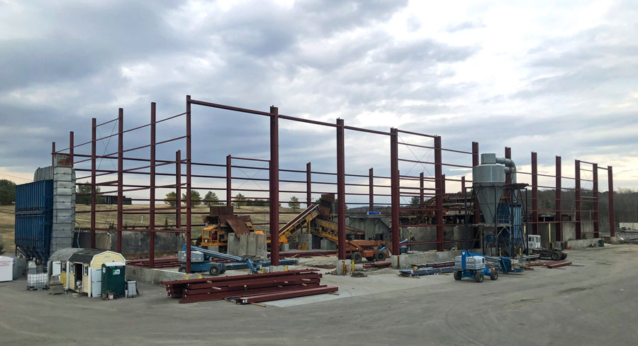 Installation site of the new Thomson Brothers C&D Recycling System by Sparta Manufacturing