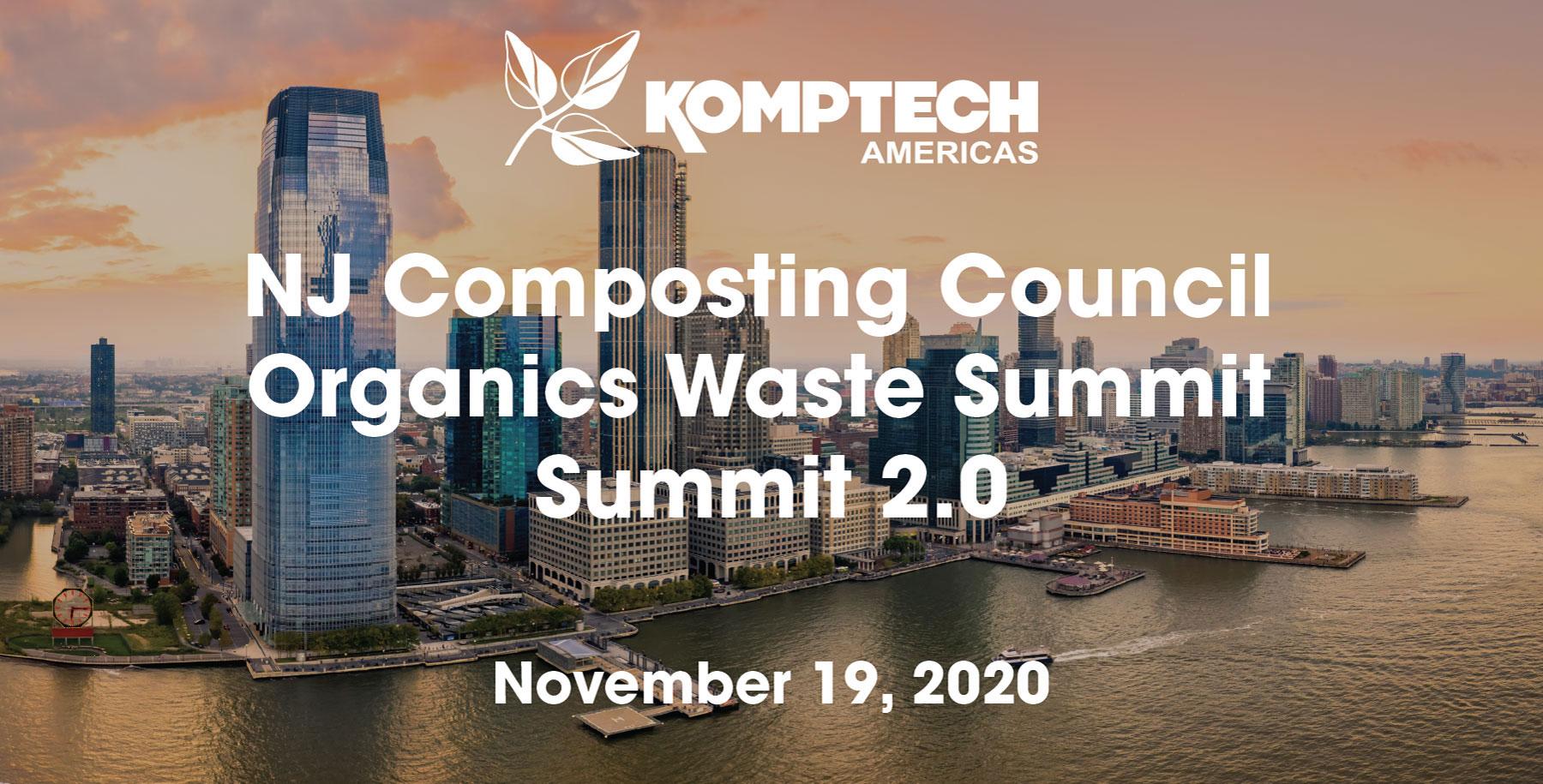 NJ Composting Council Organics Waste Summit 2.0 - November 19, 2020