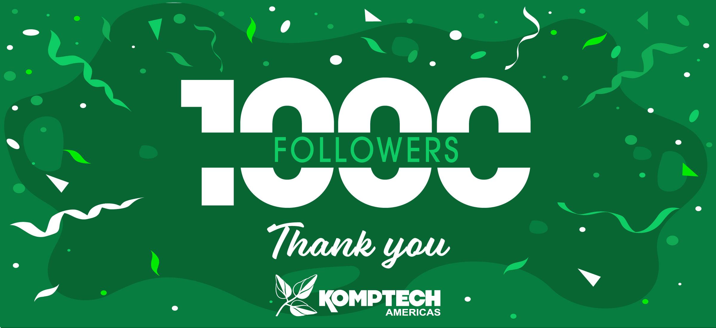 Komptech Americas reaches 1,000 followers on LinkedIn