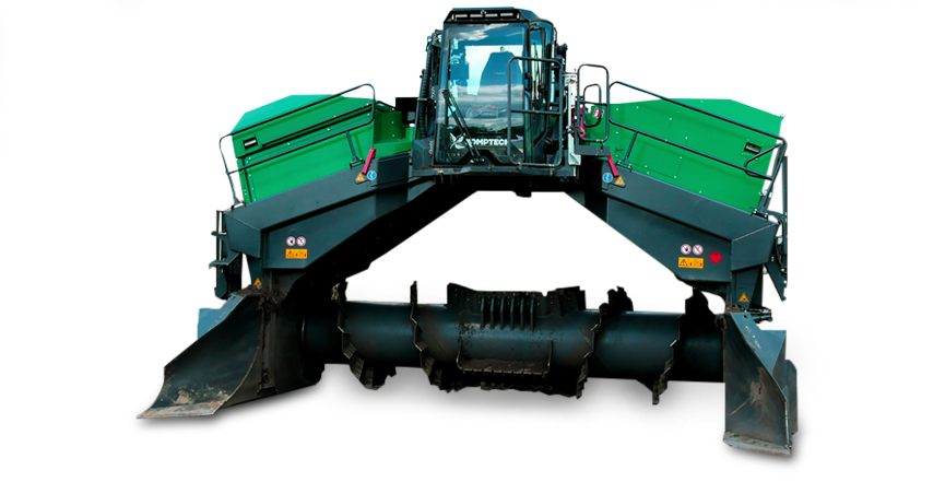Topturn X6000 compost windrow turner.