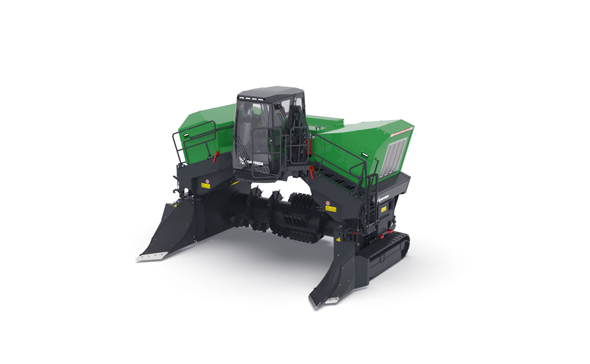 Komptech Topturn X6000 Compost Windrow Turner