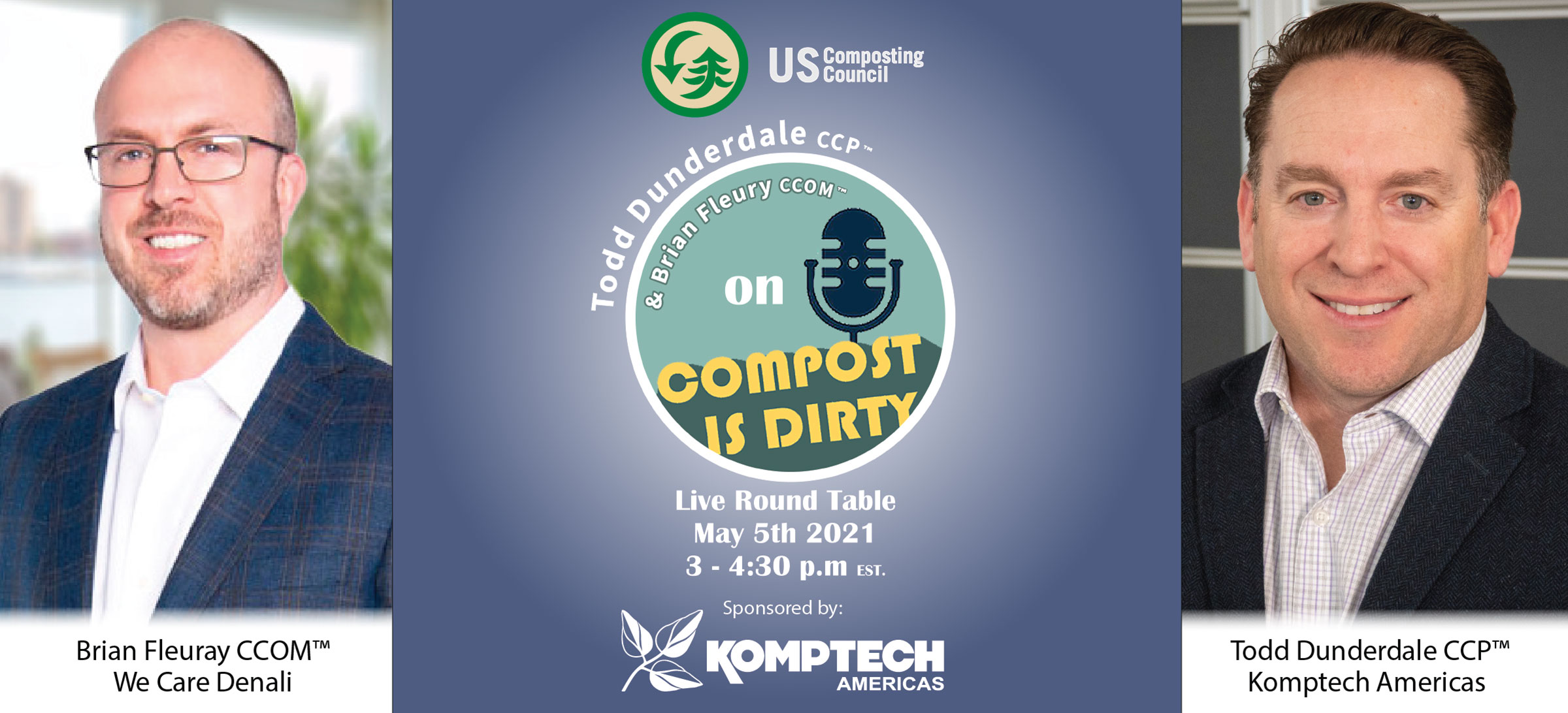 """USCC Webinar titled """"Compost is Dirty"""" featuring Todd Dunderdale."""