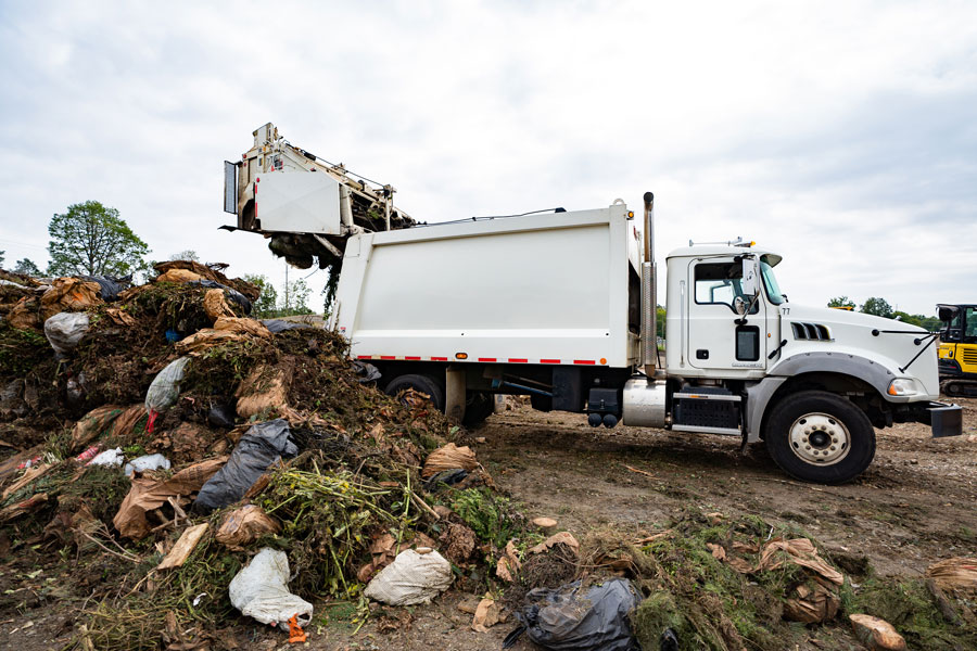 The waste tipping yard at the new facility is designed with plenty of room for multiple vehicles, even commercial trucks, at the same time.